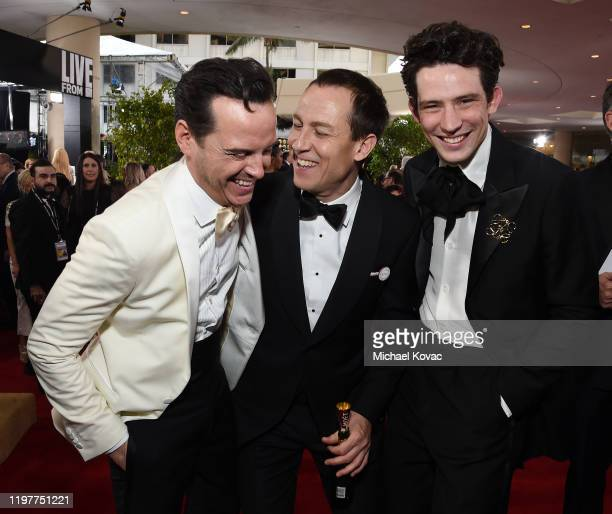 Andrew Scott Tobias Menzies and Josh O'Connor attend the 77th Annual Golden Globe Awards at The Beverly Hilton Hotel on January 05 2020 in Beverly...