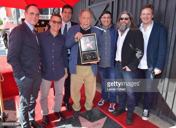 Andrew Secunda Lew Schneider Doug Robinson actor George Segal executive producer of 'The Golderbergs' Adam F Goldberg David Guarascio and Marc Firek...