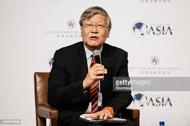 Andrew Sheng chief adviser to the China Banking Regulatory Commission speaks during the Boao Forum for Asia Financial Cooperation Conference in Hong...