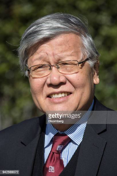 Andrew Sheng chief adviser to the China Banking Regulatory Commission poses for a photograph on the sidelines of the 29th edition of 'The Outlook for...