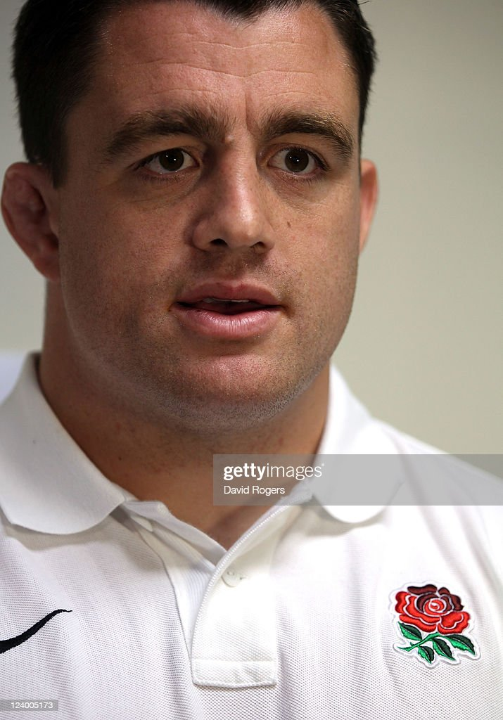 Andrew Sheridan, who has been selected to play for England in their first match of the World Cup against Argentina, talks to the media during an England IRB Rugby World Cup 2011 team announcement at the Southern Cross Hotel on September 8, 2011 in Dunedin, New Zealand.