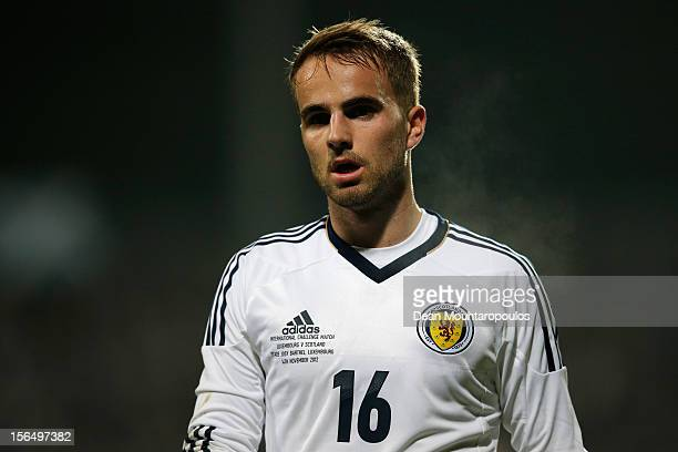 Andrew Shinnie of Scotland looks on during the International Friendly match between Luxembourg and Scotland at Stade Josy Barthel on November 14 2012...