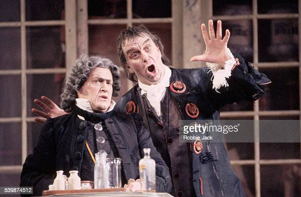 Andrew Shore and Richard Angas appear in an English National Opera production of The Barber of Seville