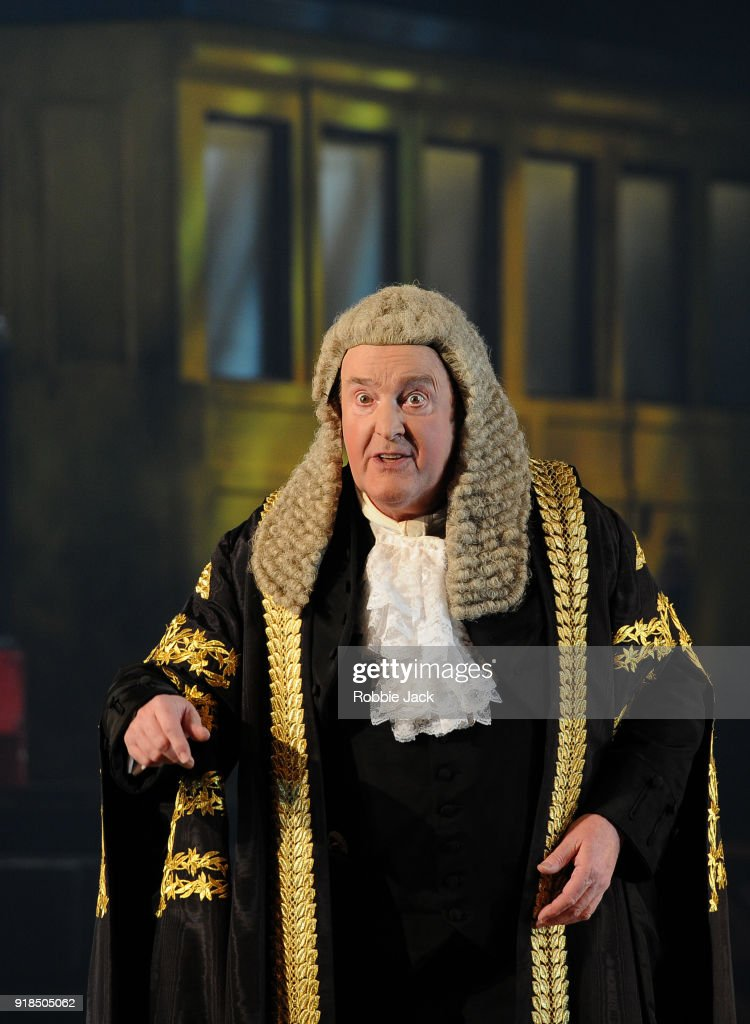 Andrew Shore As The Lord Chancellor in English National Opera's production of Gilbert and Sullivan's Iolanthe directed by Cal McCrystal and conducted by Timothy Henty at The London Coliseum on February 12, 2018 in London, England.