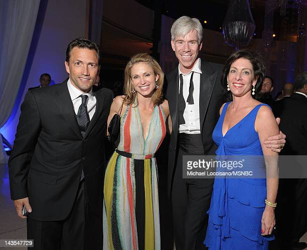 Andrew Shue Amy Robach David Gregory and Beth Wilkinson attend MSNBC After Party event for the White House Correspondents Association Dinner at...