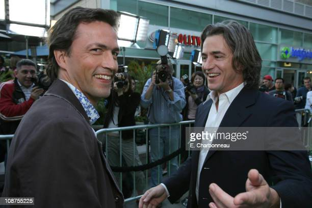 Andrew Shue and Dermot Mulroney during Picturehouse 'Gracie' Los Angeles Premiere at Arclight Cinemas in Hollywood California United States