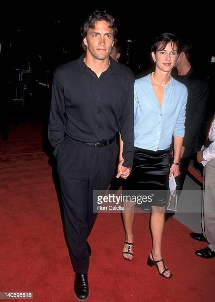 Andrew Shue and Jennifer Hageney at the Premiere of 'The Saint' Samuel Goldwyn Theater Beverly Hills