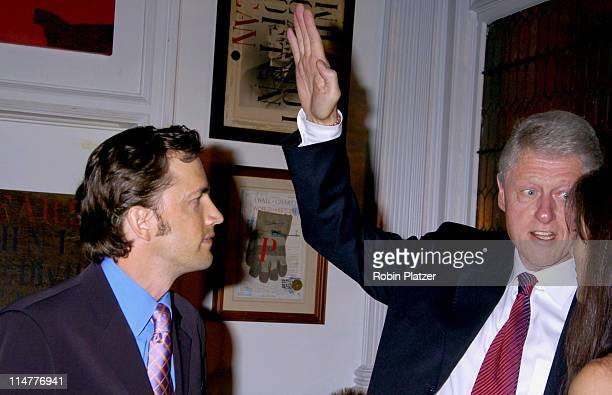 Andrew Shue and President Bill Clinton during The 2005 Do Something BRICK Awards Inside Arrivals at Capitale in New York City New York United States