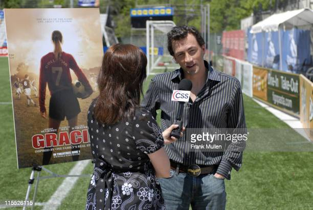 Andrew Shue during 'Gracie' Meet Greet with Atlanta Silverbacks at Atlanta Silverbacks Park in Atlanta Georgia United States