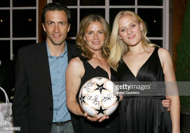 Andrew Shue Elisabeth Shue and Carly Schroeder during Gracie New York City Premiere After Party at Central Park Boat House in New York City New York...