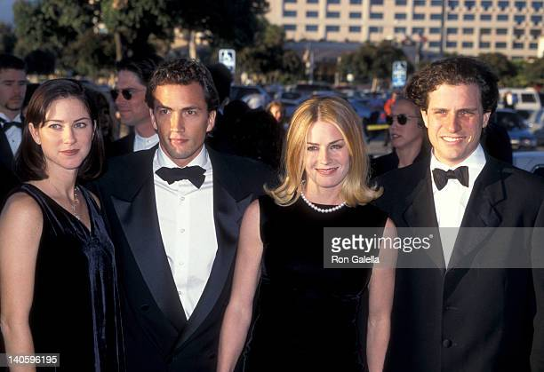 Andrew Shue Jennifer Hageney Elisabeth Shue and Davis Guggenheim at the 2nd Annual Screen Actors Guild Awards Santa Monica Civic Auditorium Santa...