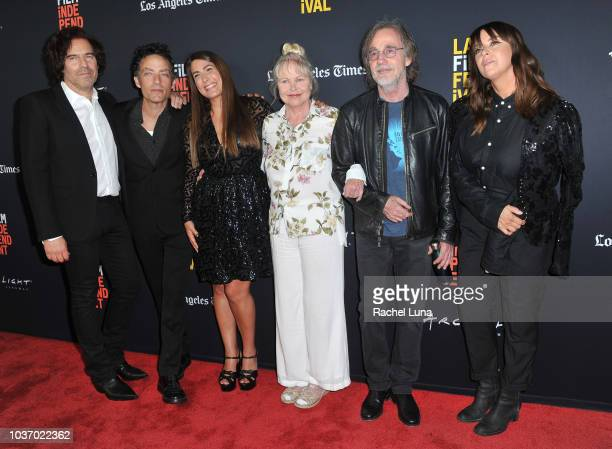 Andrew Slater Jakob Dylan Jade Castrinos Michelle Phillips Jackson Browne and Cat Power of ÒEcho in the CanyonÓ arrive at the 2018 LA Film Festival...