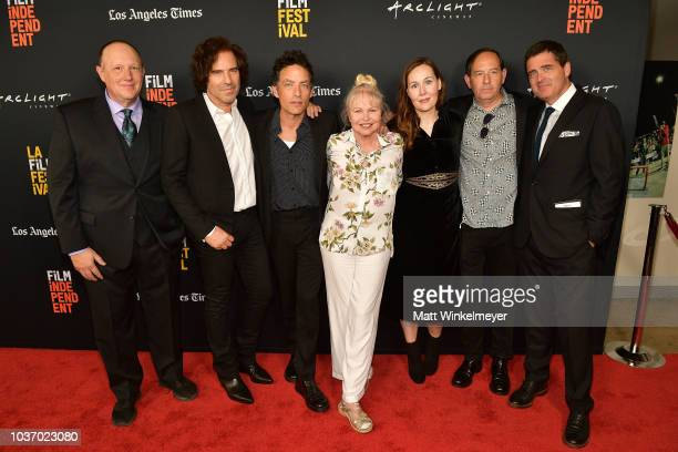 Andrew Slater Jakob Dylan Michelle Phillips Jennifer Cochis Daniel Braun and Josh Welsh attend sthe 2018 LA Film Festival opening night premiere of...