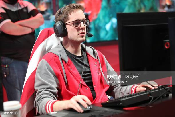 Andrew Smith of Maryville University is seen in the League of Legends College Championship Game between University of Toronto and Maryville...