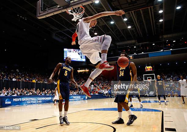 Andrew Smith of the Liberty Flames dunks in the second half against the North Carolina AT Aggies during the first round of the 2013 NCAA Men's...