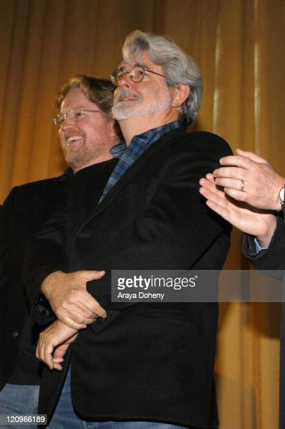 Andrew Stanton and George Lucas during San Francisco International Film Festival 2007 Fog City Mavericks Arrivals at The Castro Theatre in San...