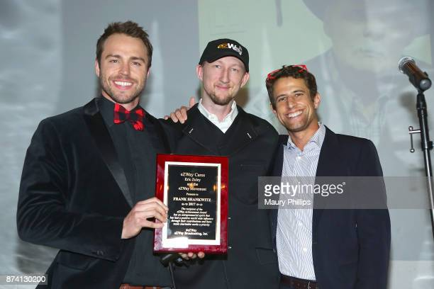 Andrew Steel Eric Zuley and James Hawthron arrive at Flicks4Change film festival Day 2 at Boomtown Brewery on November 13 2017 in Los Angeles...