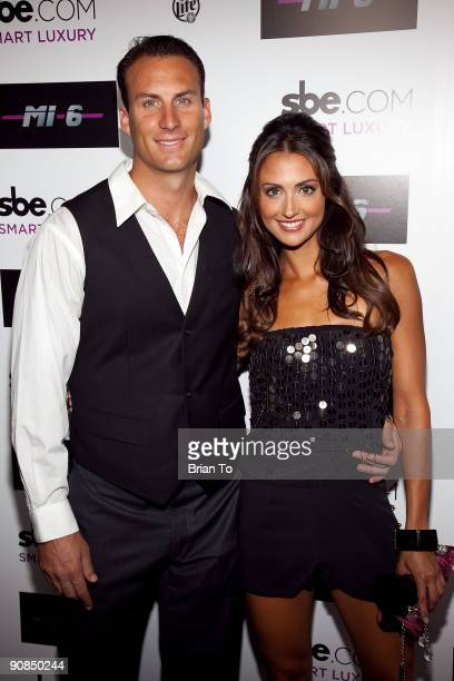 Andrew Stern and Katie Cleary attend Mi6 Nightclub Grand Opening Party on September 15 2009 in West Hollywood California