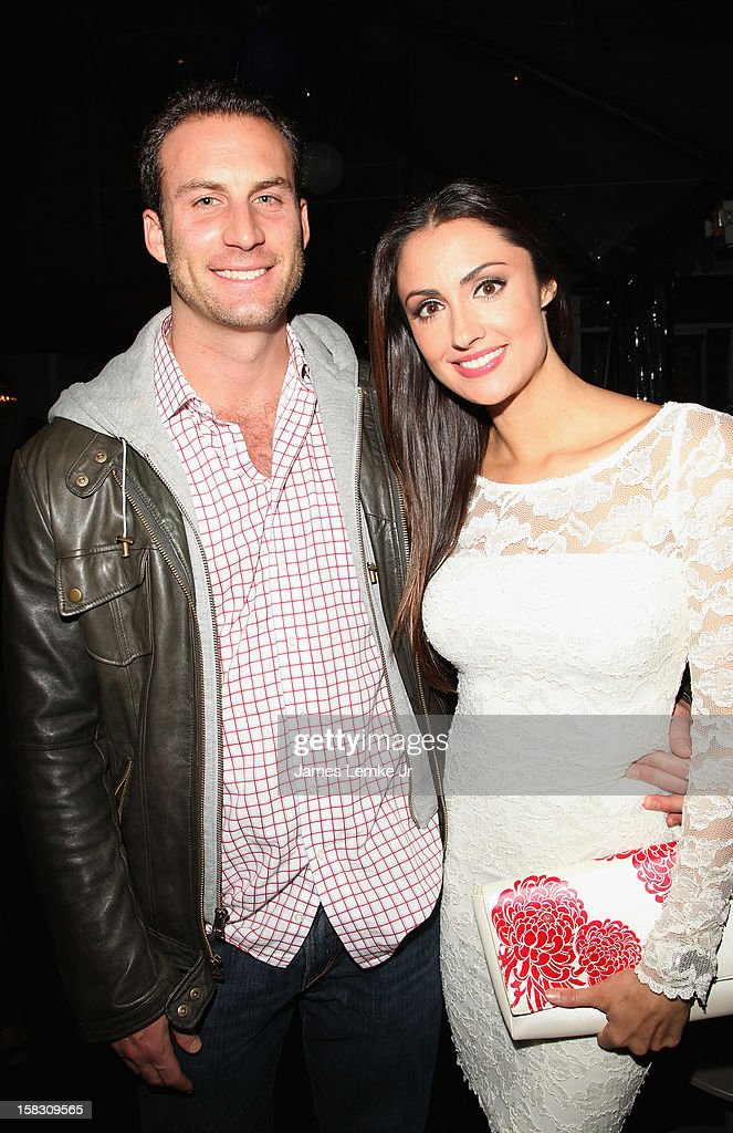 Andrew Stern and Katie Cleary attend the 'Mix. Mingle. Give Back.' Toys For Tots Holiday Cocktail Party held at the W Hollywood on December 12, 2012 in Hollywood, California.