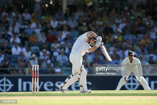 Andrew Strauss during the 3 Ashes Third Test First Day at the WACA Ground in Perth Australia on December 14 2005