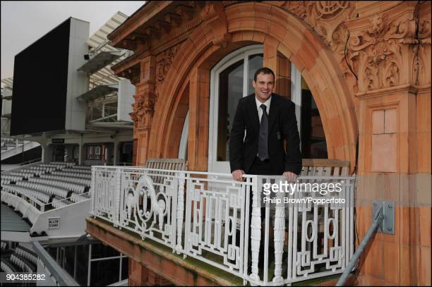 Andrew Strauss poses for photographs after being named the new England captain at Lord's Cricket Ground London 8th January 2009 before the England...