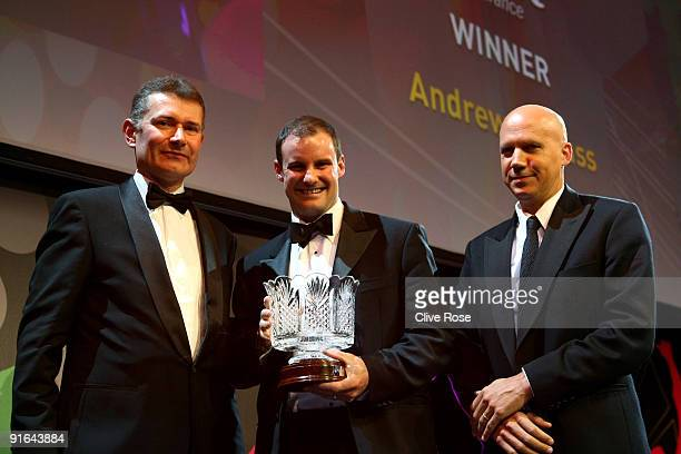 Andrew Strauss receives the PCA Special Merit award during the NatWest PCA Awards Dinner held at Old Billingsgate on October 8 2009 in London England