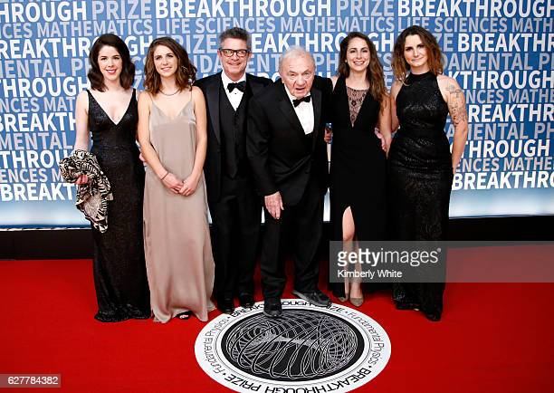 Andrew Strominger and his family attend the 2017 Breakthrough Prize at NASA Ames Research Center on December 4 2016 in Mountain View California