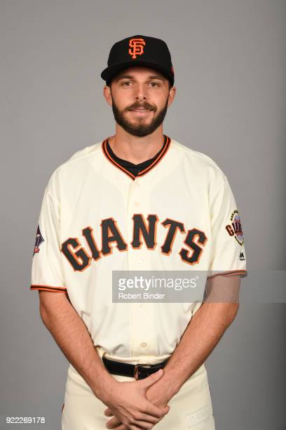 Andrew Suarez of the San Francisco Giants poses during Photo Day on Tuesday February 20 2018 at Scottsdale Stadium in Scottsdale Arizona