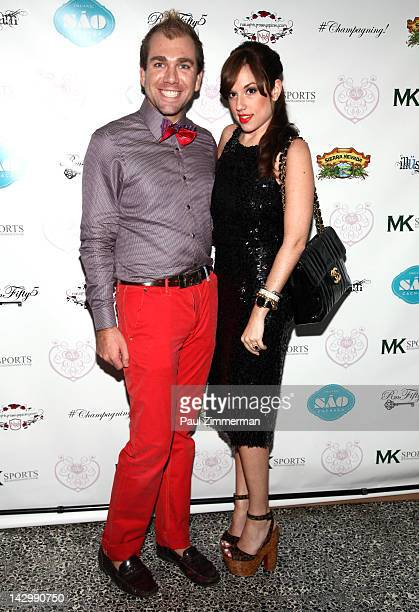 Andrew Sullivan and Nicole Rose Stillings attend the Eden's World premiere party at Room Fifty5 at Dream Midtown on April 16 2012 in New York City