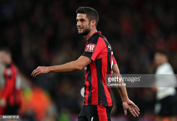 Andrew Surman of AFC Bournemouth during the Premier League match between AFC Bournemouth and Liverpool at Vitality Stadium on December 17 2017 in...