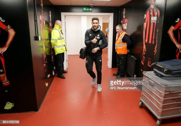 Andrew Surman of Bournemouth before the Premier League match between AFC Bournemouth and West Bromwich Albion at Vitality Stadium on March 17 2018 in...