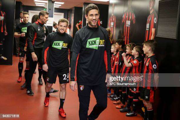 Andrew Surman of Bournemouth before the Premier League match between AFC Bournemouth and Crystal Palace at Vitality Stadium on April 7 2018 in...