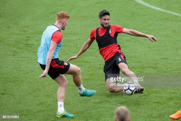 Andrew Surman of Bournemouth during training on April 24 2018 in Bournemouth England