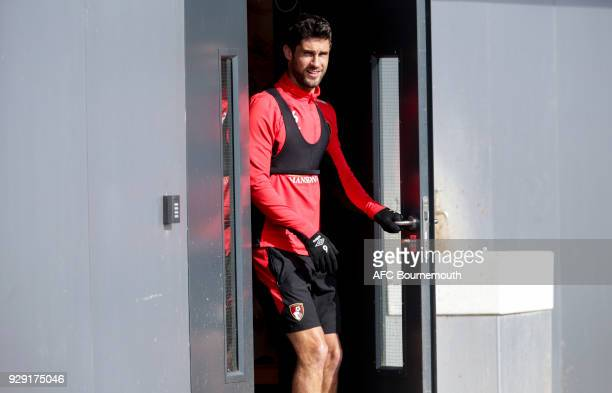 Andrew Surman of Bournemouth walks out for an AFC Bournemouth training session on March 7 2018 in Bournemouth England
