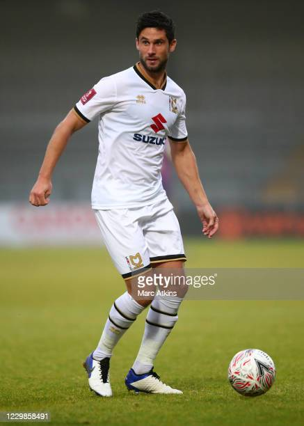 Andrew Surman of MK Dons during the Emirates FA Cup Second Round match between Barnet FC and Milton Keynes Dons at The Hive London on November 29,...