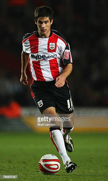 Andrew Surman of Southampton in action during the CocaCola Championship match between Southampton and Preston North End at St Marys Stadium on...
