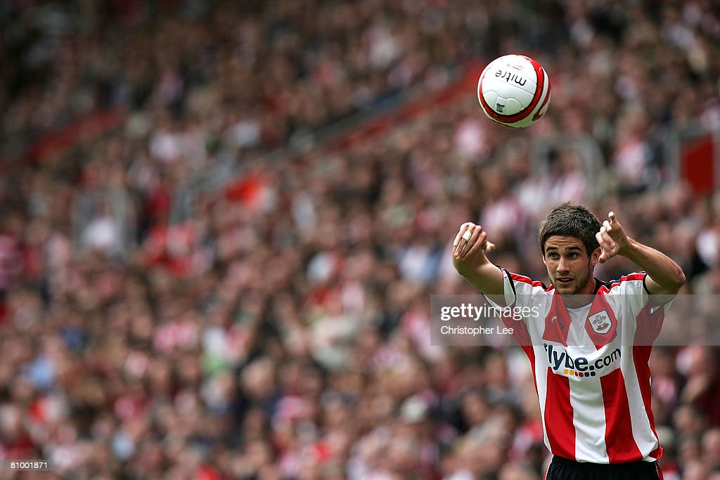Andrew Surman of Southampton takes a throw in during the Coca-Cola Championship match between Southampton and Sheffield United at St Mary's Stadium on May 4, 2008 in Southampton, England.