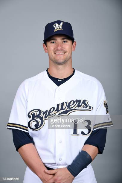 Andrew Susac of the Milwaukee Brewers poses during Photo Day on Wednesday February 22 2017 at Maryvale Baseball Park in Phoenix Arizona