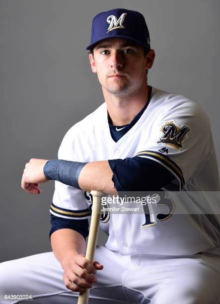 Andrew Susac of the Milwaukee Brewers poses for a portrait during a MLB photo day at Maryvale Baseball Park on February 22 2017 in Maryvale Arizona