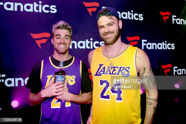 Andrew Taggart and Alex Pall appear onstage at Michael Rubin's Fanatics Super Bowl Party at Loews Miami Beach Hotel on February 01 2020 in Miami...