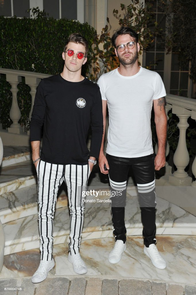 Andrew Taggart (L) and Alex Pall of The Chainsmokers at BALMAIN celebrates first Los Angeles boutique opening and Beats by Dre collaboration on July 20, 2017 in Beverly Hills, California.