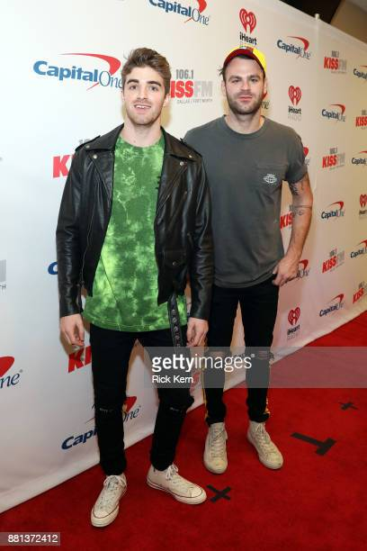 Andrew Taggart and Alex Pall of The Chainsmokers attend 1061 KISS FM's Jingle Ball 2017 Presented by Capital One at American Airlines Center on...