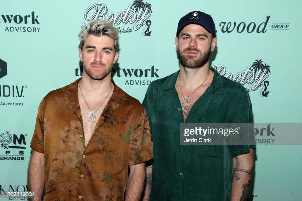 Andrew Taggart and Alex Pall of The Chainsmokers attend Bootsy On The Water Miami Takeover 2020 on January 31 2020 in Miami Florida