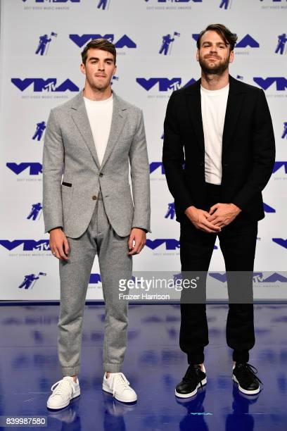 Andrew Taggart and Alex Pall of The Chainsmokers attend the 2017 MTV Video Music Awards at The Forum on August 27 2017 in Inglewood California