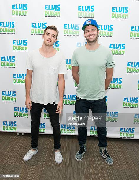 Andrew Taggart and Alex Pall of The Chainsmokers visit 'The Elvis Duran Z100 Morning Show' at Z100 Studio on August 27 2015 in New York City