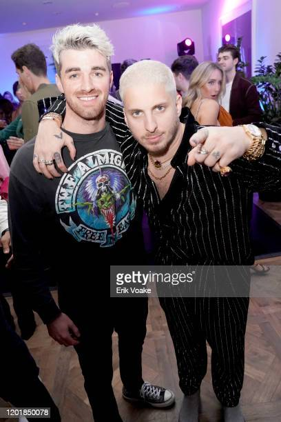 Andrew Taggart and Andrew Watt as JAJA Tequila Presents The Party For No Reason on January 24 2020 in Los Angeles California