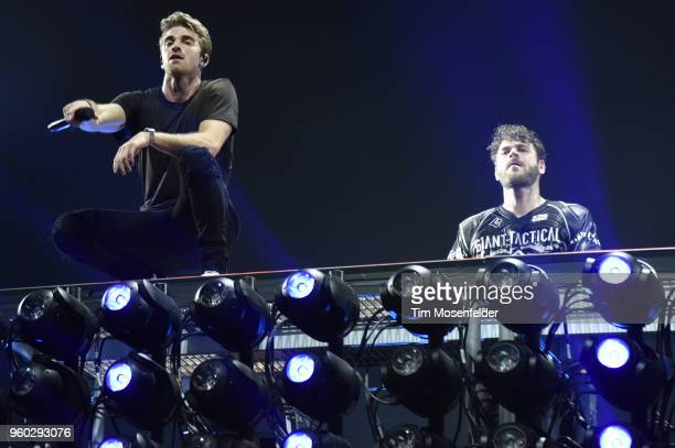 Andrew Taggart and of The Chainsmokers perform during the 2018 Hangout Festival on May 19 2018 in Gulf Shores Alabama