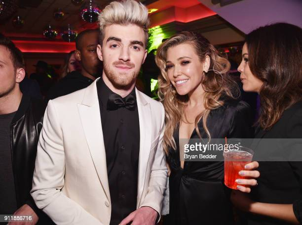 Andrew Taggart and Rachel Platten attend the 60th Annual Grammy Awards after party hosted by Benny Blanco and Diplo with SVEDKA Vodka and Interscope...