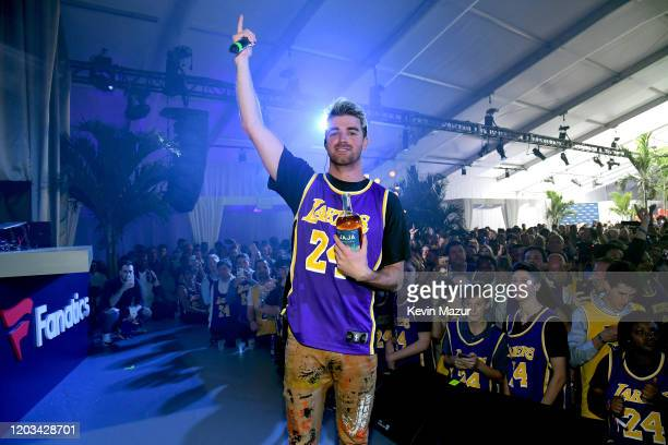 Andrew Taggart appears onstage at Michael Rubin's Fanatics Super Bowl Party at Loews Miami Beach Hotel on February 01 2020 in Miami Beach Florida