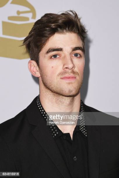 Andrew Taggart of The Chainsmokers attends PreGRAMMY Gala and Salute to Industry Icons Honoring Debra Lee at The Beverly Hilton on February 11 2017...